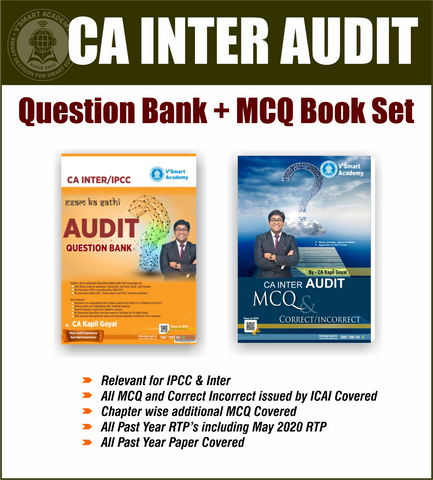 CA Inter Audit Question Bank with MCQ Book Set by CA Kapil Goyal - Zeroinfy