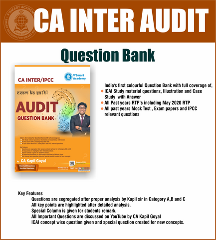 CA Inter Audit Question Bank Book by CA Kapil Goyal - Zeroinfy