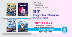 CA/CS/CMA Final Direct Taxes Regular Book Set For May21 by CA Vijay Sarda - Zeroinfy
