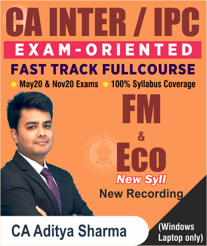 CA Inter/IPCC FM ECO Fast Track Full Course by Aditya Sharma (New/Old) - Zeroinfy