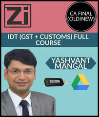 CA Final Indirect Tax Full Course By Yashvant Mangal (Old/New) - Zeroinfy