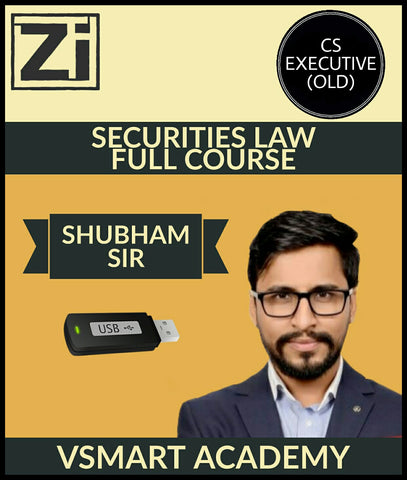 CS Executive (Old Syllabus) Securities Law Regular Full Course By Shubham