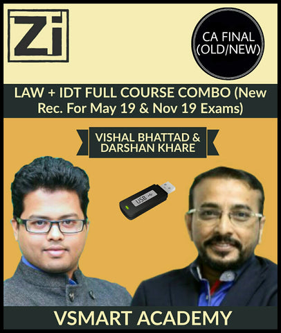 CA Final Law and IDT Full Course Combo by Darshan Khare and Vishal Bhattad - Zeroinfy