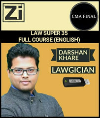 CMA Final Law Full Course In Simple English By Darshan Khare (Super 35) - Zeroinfy