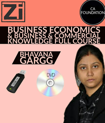 CA Foundation Business Economics & Bus & Comm Knowledge Full Course Videos, Bhavana Gargg - zeroinfy