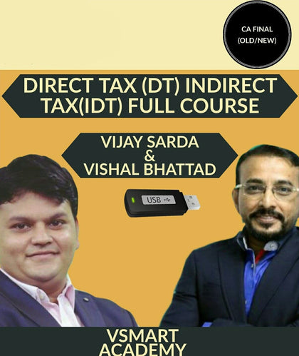 CA Final (Old/New) DT+IDT Combo Regular Full Course Video Lectures By Vsmart Academy - Zeroinfy