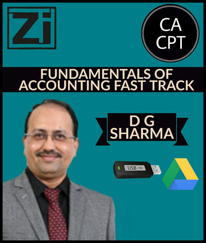 CA CPT Fundamentals of Accounting Fast Track Videos D G Sharma - Zeroinfy
