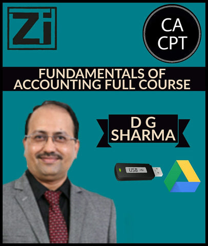 CA CPT Fundamentals of Accounting Full Course Videos D G Sharma - Zeroinfy