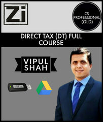 CS Professional (Old) Direct Tax Full Course Videos By Vipul Shah - Zeroinfy