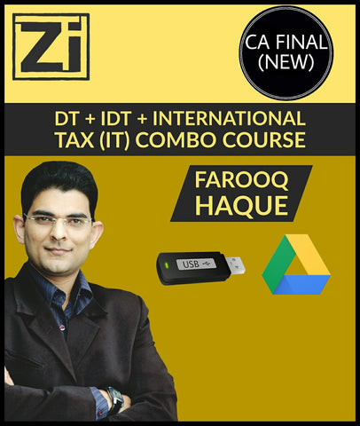 CA Final (New) DT + IDT + International Tax (IT) Combo Course Video Lectures By Farooq Haque - Zeroinfy