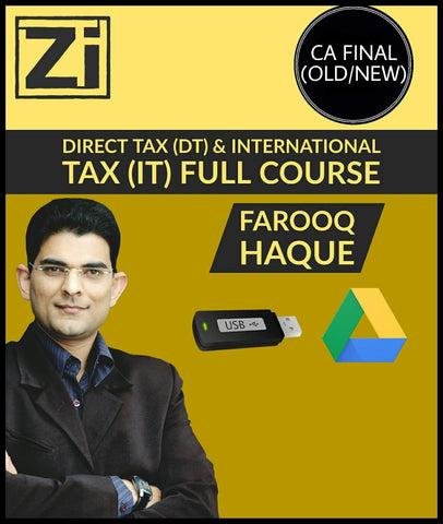 CA Final (New/Old) Direct Tax (DT) And International Tax Full Course Videos By Farooq Haque - Zeroinfy