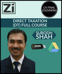 CA Final (Old/New) Direct Taxation (DT) Full Course Videos By Subodh Shah - Zeroinfy