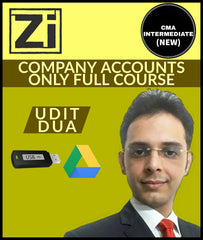 CMA Intermediate (New) Company Accounts Only Full Course Video Lectures By Udit Dua - Zeroinfy