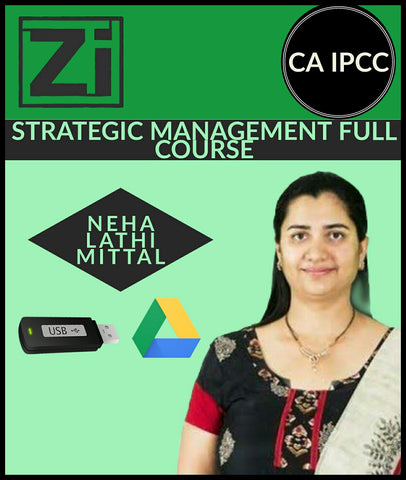 CA IPCC Strategic Management Full Course Video Lectures By Neha Lathi Mittal - Zeroinfy
