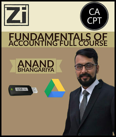 CA CPT Fundamentals Of Accounting Full Course Video Lectures By Anand Bhangariya - Zeroinfy
