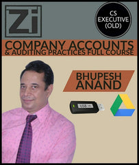 CS Executive (Old) Company Accounts, Auditing Full Video Lectures By Bhupesh Anand - Zeroinfy