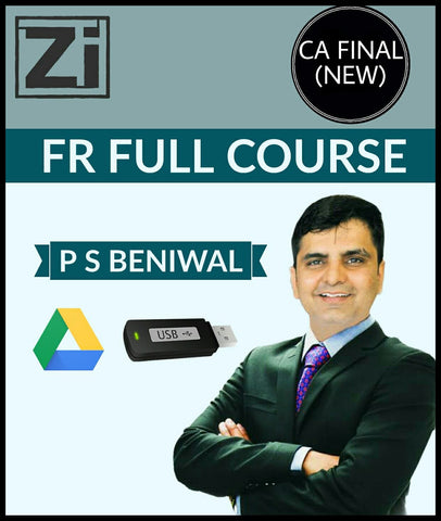 CA Final (New) Financial Reporting Full Course Video Lectures By P S Beniwal - zeroinfy