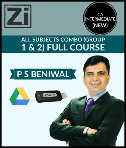 CA Intermediate All Subjects Combo Full Course Video Lectures By PS Beniwal - Zeroinfy