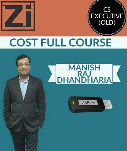 CS Executive Cost Full Course by Manish Raj Dhandharia (Old) - Zeroinfy