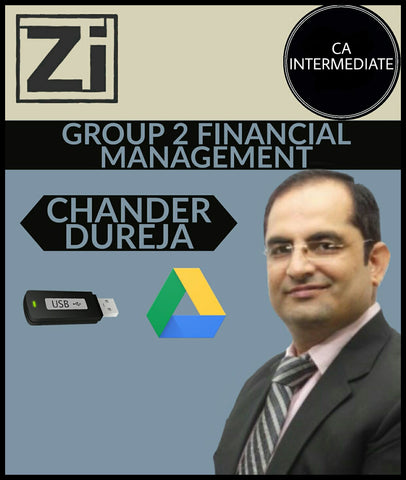 CA Inter Group 2 Financial Management By Chander Dureja - Zeroinfy