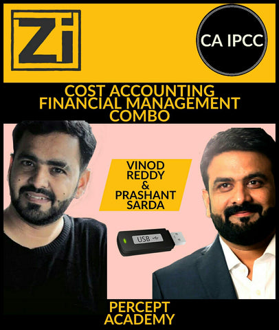 CA IPCC Cost Accounting Financial Management - COMBO By Percept - zeroinfy