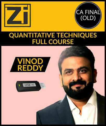 CA Final (Old) Quantitative Techniques Full Course Video Lectures By Vinod Reddy - Zeroinfy