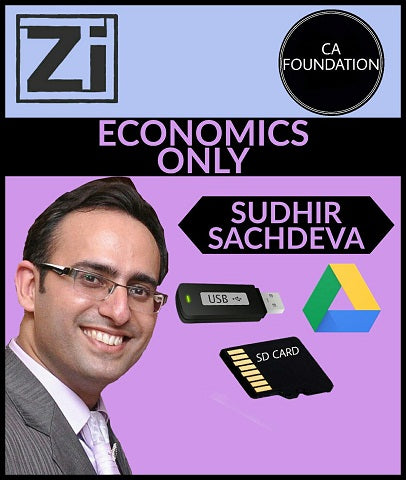 CA Foundation Economics ONLY Video Lectures By Sudhir Sachdeva - zeroinfy