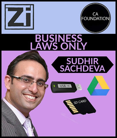 CA Foundation-Business Laws Only Video Lectures By Sudhir Sachdeva - zeroinfy