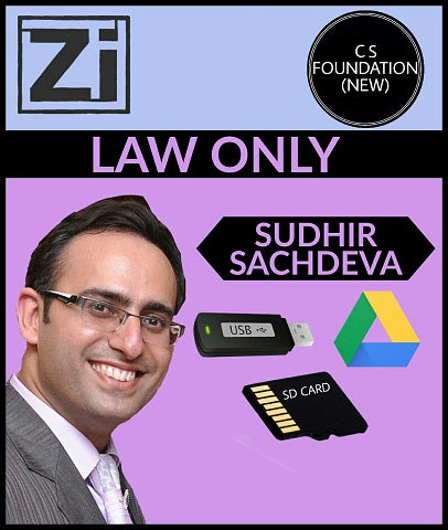 CS Foundation (New)  Law only Video Lectures By Sudhir Sachdeva - Zeroinfy
