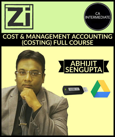 CA Intermediate Cost & Management Accounting (Costing) Full Videos By Abhijit Sengupta - zeroinfy