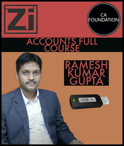 CA Foundation Accounts Full Course Video Lectures By Ramesh Kumar Gupta - Zeroinfy