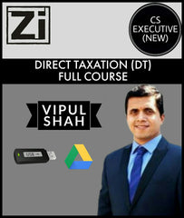 CS Executive (New) Direct Tax (DT) Full Course Videos By Vipul Shah - Zeroinfy