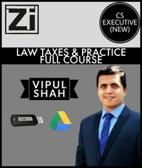 CS Executive (New) Tax Laws And Practice (TLP) Full Course Videos By Vipul Shah - Zeroinfy