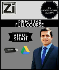 CS Professional (New) Direct Tax Full Course Videos By Vipul Shah - Zeroinfy