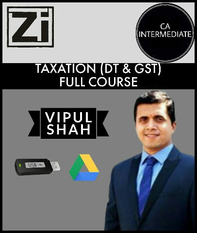 CA Intermediate Taxation (DT And GST)  Full Course Videos By Vipul Shah - Zeroinfy
