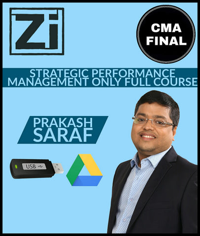 CMA Final (2016 Syllabus) Paper 20A - SPM Only Full Course Video Lectures By Prakash Saraf - Zeroinfy