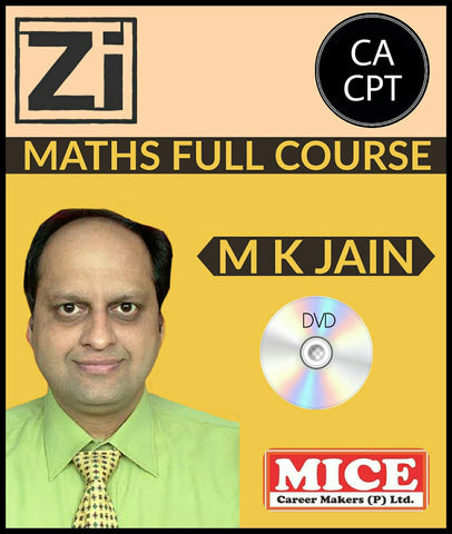 CA CPT Maths Full Course Video Lectures by Prof M K Jain - Zeroinfy