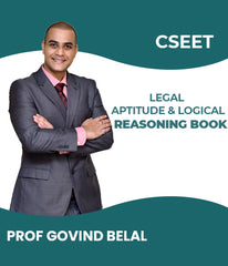 CSEET Legal Aptitude and Logical Reasoning Book By Prof Govind Belal - Zeroinfy