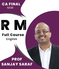 CA Final New Risk Management In English Full Course Live Lectures By Prof Sanjay Saraf - Zeroinfy