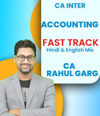 CA Inter Accounting Fast Track Course Video Lectures By CA Rahul Garg (New) - Zeroinfy