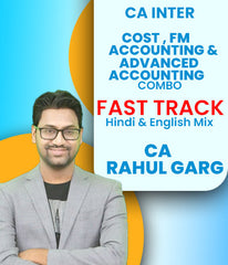 CA Inter Cost and FM ECO and Accounting and Adv Accounting Combo Fast Track By CA Rahul Garg (New) - Zeroinfy