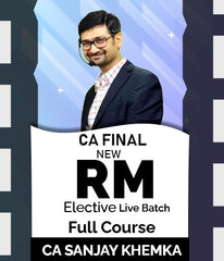 CA Final Elective Risk Management Full Course Live Batch By Sanjay Khemka - Zeroinfy
