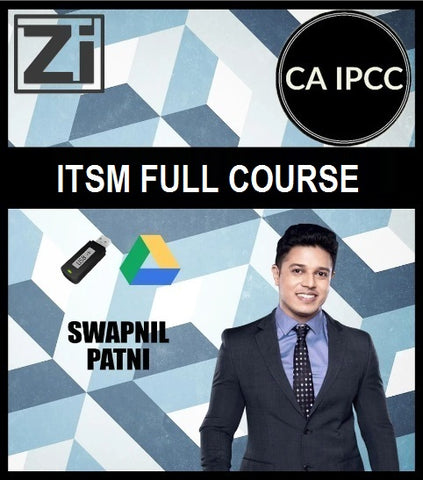 CA IPCC ITSM Full Course Video Lectures with Books By CA Swapnil Patni - Zeroinfy