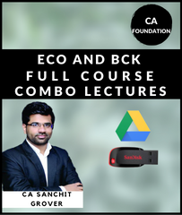 CA Foundation Eco and BCk Full Course Combo By CA Sanchit Grover - Zeroinfy