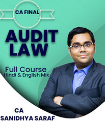 CA Final Law and Audit Full Course Video Lectures Combo By Sanidhya Saraf (New/Old) - Zeroinfy