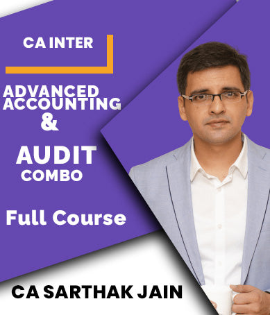 CA Inter Advanced Accounting and Audit Combo by Sarthak Jain - Zeroinfy