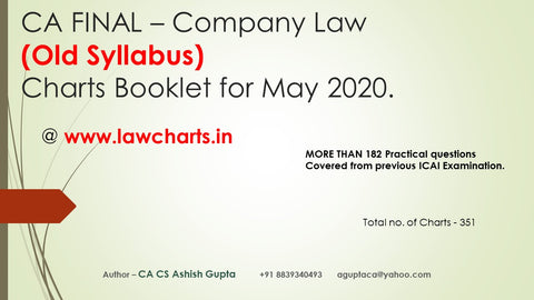 CA Final Old Syllabus Company law Charts Books By CA Ashish Gupta - Zeroinfy