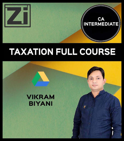 CA Inter DT and GST Full Course by Vikram Biyani - Zeroinfy