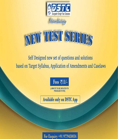 CA Final Direct Tax Topic Wise Test Series By CA Durgesh Singh