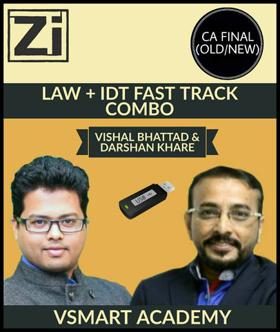CA Final Indirect Tax (IDT) + Law Fast Track Combo By Vishal Bhattad & Darshan Khare - Zeroinfy